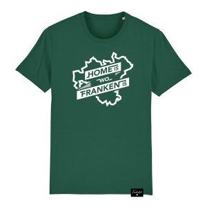 Home is Heimat Dialekt Franken Sprüche T-Shirt Herren