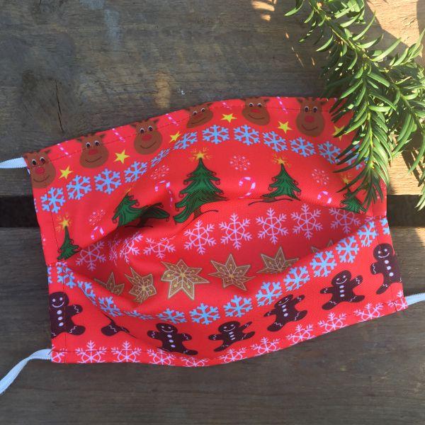 Hässliche Gesichtsmaske, Hässliche Weihnachtsmaske, Hässliche Gesichtsmaske Weihnachten