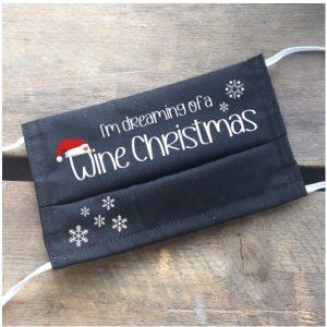 Gesichtsmaske Wine Christmas, Wein Christmas, Wein Weihnachtsmaske
