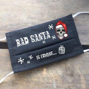 Gesichtsmaske Bad Santa, Nikolaus Totenkopf Maske