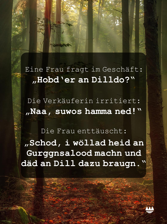 Franken Spruch Dilldo